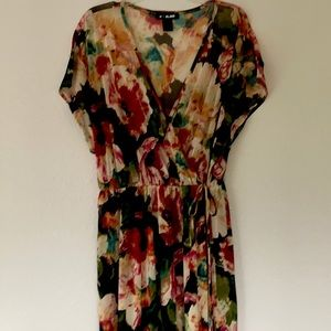 Floral chiffon wrap cover up